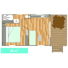 Map of our Garden Tiki Hutte Premium 1 bedroom
