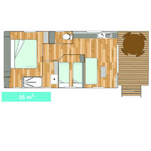 Map of our Garden Tiki Hutte Premium 2 bedrooms