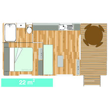 Map of our Tiki Hutte - Seaview - Standard - 1 bedroom