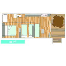 Map of our Tiki Hutte Standard 1st row - Seaview - 2 bedrooms