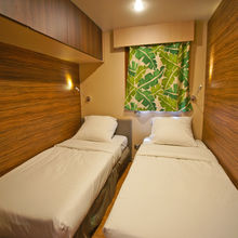 Twin bedroom - Garden Tiki Hutte Premium 2 bedrooms
